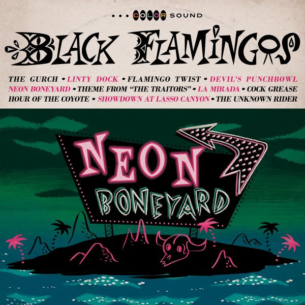 Black Flamingos - Neon Boneyard