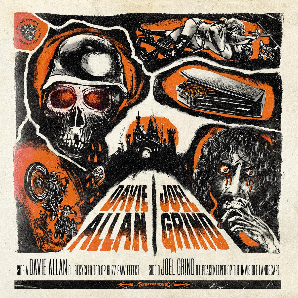 "Davie Allan and Joel Grind - split 10"""