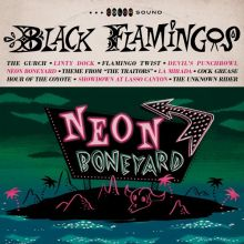 Black Flamingos - Neon Boneyard